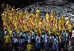Opening ceremony of the 21st Commonwealth games<br /> <br /> *This image must be credited to Ian Cook Sportingwales and can only be used in conjunction with this event only*<br /> <br /> 21st Commonwealth Games - Wales Opening Ceremony - Carrara Stadium - 04/04/2018 - Gold Coast City - Australia