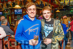 Henry Fitz and Brian Hughes enjoying the Cheltenham Races in the Castle Bar on Thursday.