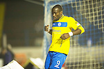 Cowdenbeath v St Johnstone ..17.12.12      Scottish Cup.Believe it or not this is Gregory Tade's celebration after making it 3-0.Picture by Graeme Hart..Copyright Perthshire Picture Agency.Tel: 01738 623350  Mobile: 07990 594431