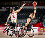 Robert Hedges, Tokyo 2020 - Wheelchair Basketball // Basketball en fauteuil roulant.<br /> Canada takes on Japan in a men's preliminary game // Le Canada affronte le Japon dans un match préliminaire masculin. 28/08/2021.