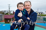 Little Jack and Tim Barry enjoying the playground in Fenit on Monday.