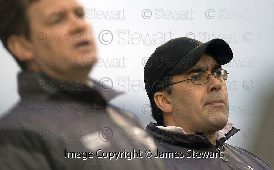 05/02/2005  Copyright Pic : James Stewart.File Name : jspa39_qots_v_dundee_utd.THE DUNDEE UTD MANAGEMENT TEAM OF GORDON CHISHOLM AND IAN MCCALL DURING THE SCOTTISH CUP 4TH ROUND CLASH AGAINST QUEEN OF THE SOUTH...Payments to :.James Stewart Photo Agency 19 Carronlea Drive, Falkirk. FK2 8DN      Vat Reg No. 607 6932 25.Office     : +44 (0)1324 570906     .Mobile   : +44 (0)7721 416997.Fax         : +44 (0)1324 570906.E-mail  :  jim@jspa.co.uk.If you require further information then contact Jim Stewart on any of the numbers above.........A