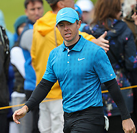 180719 | The 148th Open - Day 1<br /> <br /> Rory McIlroy of Northern Ireland walks to the 14th tee during the 148th Open Championship at Royal Portrush Golf Club, County Antrim, Northern Ireland. Photo by John Dickson - DICKSONDIGITAL