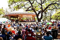 Performers and visitors at the 40th Annual Ukulele Festival at Kapiolani Park