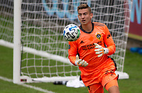 LOS ANGELES, CA - OCTOBER 25: Jonathan Klinsmann #33 of the Los Angeles Galaxy moves to the ball during a game between Los Angeles Galaxy and Los Angeles FC at Banc of California Stadium on October 25, 2020 in Los Angeles, California.