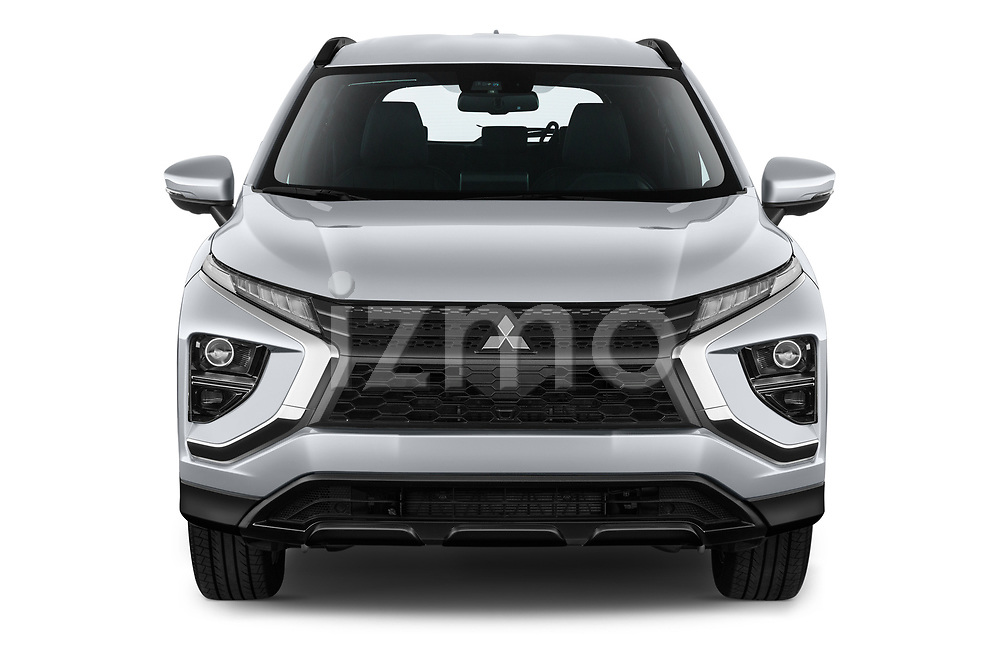Car photography straight front view of a 2021 Mitsubishi Eclipse-Cross-PHEV Invite 5 Door SUV Front View