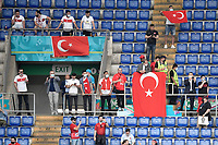 Turkish supporters spaced out for the covid during the Uefa Euro 2020 Group stage - Group A football match between Turkey and Italy at stadio Olimpico in Rome (Italy), June 11th, 2021. Photo Andrea Staccioli / Insidefoto