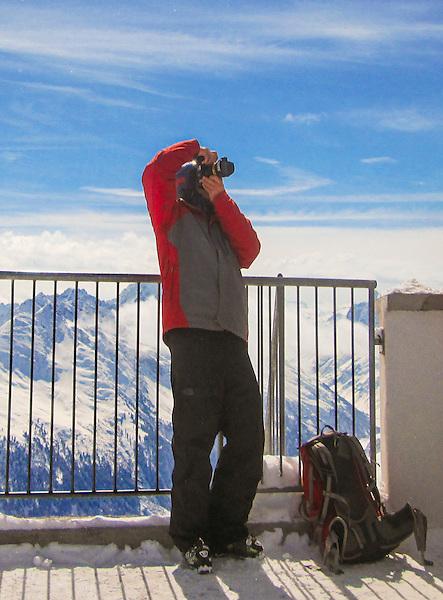 John atop Valluga Peak at St Anton Ski Area, Austria.