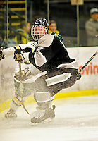 5 February 2011: Providence College Friar defenseman Eric Baier, a Senior from North Kingstown, R.I. in action against the University of Vermont Catamounts at Gutterson Fieldhouse in Burlington, Vermont. The Catamounts defeated the Friars 7-1 in the second game of their weekend series. Mandatory Credit: Ed Wolfstein Photo