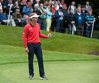 22.05.2015. Wentworth, England. BMW PGA Golf Championship. Round 2. Joost Luiten [NED] on the 18th Green