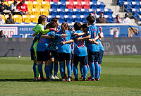 HARRISON, NJ - MARCH 08: Japan huddles during a game between England and Japan at Red Bull Arena on March 08, 2020 in Harrison, New Jersey.