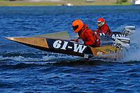 Jeff Scheffler (61-W)....Stock  Outboard Winter Nationals, Ocoee, Florida, USA.13/14 March, 2010 © F.Peirce Williams 2010