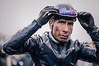 Nairo Quintana's (COL/Movistar) post-race face<br /> <br /> 73rd Dwars Door Vlaanderen 2018 (1.UWT)<br /> Roeselare - Waregem (BEL): 180km
