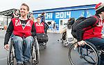Marc Dorion and Brad Bowden, Sochi 2014. <br /> Team Canada arrives at the airport in Sochi for the Sochi 2014 Paralympic Winter // Équipe Canada arrive à l'aéroport de Sotchi pour Sochi 2014 Jeux paralympiques d'hiver. 28/02/2014.