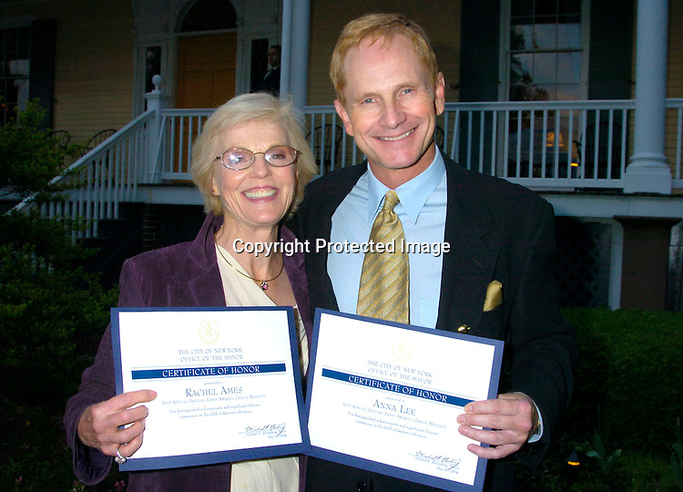 Rachel Ames and Jeff Byron ..at the Pre Daytime Emmy party at Gracie Mansion on..May 20, 2004