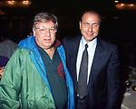 PAOLO VILLAGGIO CON SILVIO BERLUSCONI<br /> SERATA HOTEL SHERATON ROMA 1994