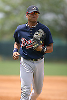 March 23rd 2008:  Gorkys Hernandez of the Atlanta Braves minor league system during Spring Training at Disney's Wide World of Sports in Orlando, FL.  Photo by:  Mike Janes/Four Seam Images