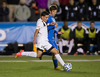 Cary, NC - December 12, 2014: UCLA defeated Providence 3-2 in overtime during the NCAA Men's College Cup semifinals at WakeMed Soccer Park.