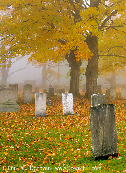Greenlawn Cemetery during the autumn months. Located in Mount Vernon, New Hampshire USA, which is part of scenic New England....Note: See CTM6246-03