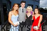Abigail Gallagher (Listry), Aaron O'Callaghan (Killarney), Aisling Coughlin (Killarney) and Kamila Fudyma attending the Killarney Community College, St. Brendan's and St. Bridget's School debs in the Ballyroe Heights Hotel on Monday night.