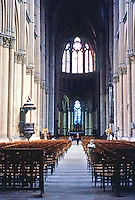 Rheims: Looking down nave. Height of nave--125 ft. PARIS, P. 115. Reference only.