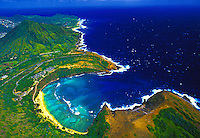 Hanauma Bay Nature Preserve, the first  Marine Life Conservation District in the state, is known for its abundant coral reefs and reef fish
