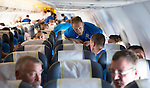 St Johnstone UEFA Cup Qualifyer, Armenia...30.06.15<br /> Steven Anderson on the flight over to Armenia<br /> Picture by Graeme Hart.<br /> Copyright Perthshire Picture Agency<br /> Tel: 01738 623350  Mobile: 07990 594431