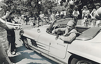 1979 FILE PHOTO - ARCHIVES -<br /> <br /> Pierre Trudeau pilots his Mercedes instead of the ship of state as he arrives for the transfer of power<br /> <br /> Bezant, Graham<br /> Picture, 1979<br /> <br /> 1979,<br /> <br /> PHOTO : Graham Bezant - Toronto Star Archives - AQP