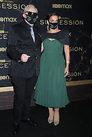 """October 12, 2021. Brian Cox, Nicole Ansari-Cox, attend HBO's """"Succession"""" Season 3 Premiere at the  American Museum of Natural History in New York October 12, 2021 Credit: RW/MediaPunch"""