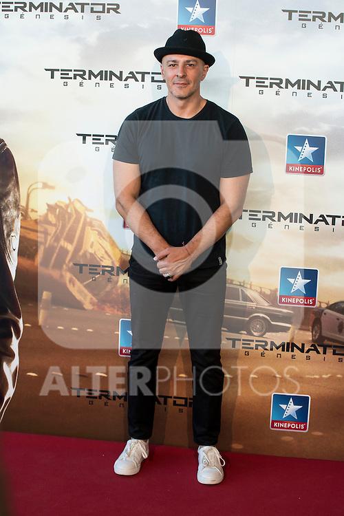Actor Roberto Álamo attends to the premiere of Terminator Genesis at Kinepolis Cinema in Madrid, Spain. July 08, 2015.<br />  (ALTERPHOTOS/BorjaB.Hojas)