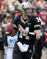Purdue quarterback Joey Elliott. The Purdue Boilermakers defeated the Ohio State Buckeyes 26-18 at Ross-Ade Stadium, West Lafayette, Indiana on October 17, 2009..