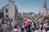 peloton cheered on by huge crowds<br /> <br /> Stage 6: Brest > Mûr de Bretagne / Guerlédan (181km)<br /> <br /> 105th Tour de France 2018<br /> ©kramon