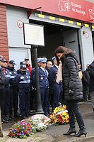 MONTROUGE LE 09/ 01/ 2017<br /> CEREMONIE EN HOMMAGE ¿ CLARISSA JEAN - PHILIPPE , LA JEUNE POLICIERE MUNICIPALE TUEE PAR LE TERRORISTE AMEDY COULIBALY LE 8 JANVIER 2015.<br /> ANNE HIDALGO.