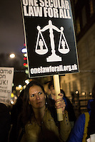 10.12.2013 - Protest against Universities UK endorsement of Gender Segregation