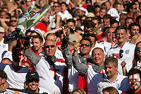England fans dressed as knights