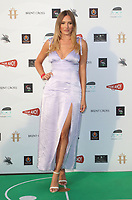 Georgie Clarke at the first ever UK Drive-In Film Premiere of 'Break' at Brent Cross in London. This is the first Red Carpet event in the UK since the Covid-19 Pandemic lockdown. The film will be rolled out nationwide in other drive-in venues. Brent Cross, London 22nd July 2020<br /> CAP/ROS<br /> ©ROS/Capital Pictures