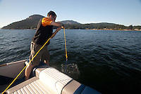 Brent Tends His Crab Traps, Orcas Island, San Juan Islands, Washington, US