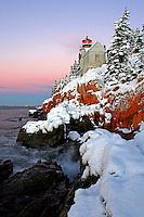 #LH15  Winter sunrise at Bass Harbor Head Light