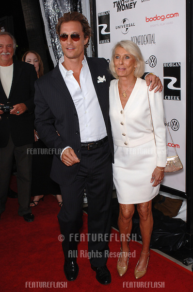 Actor MATTHEW McCONAUGHEY & mother KAY at the world premiere, in Beverly Hills, of his new movie Two For The Money..September 26, 2005  Beverly Hills, CA..© 2005 Paul Smith / Featureflash