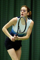 10-3-06, Netherlands, tennis, Rotterdam, National indoor junior tennis championchips, Jennemieke Veek