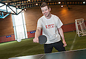 Sun Sport reporter Kenny Millar is comprehensively beaten in a Table Tennis Challenge Match by Rangers' Junior Ogen .