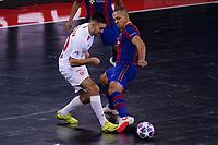 9th October 2020; Palau Blaugrana, Barcelona, Catalonia, Spain; UEFA Futsal Champions League Finals; FC Barcelona versus MFK KPRF;  Niyazov