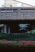 Tokyo: Metropolitan Festival Hall--detail. Kunio Mayekawa, architect. Photo '82.