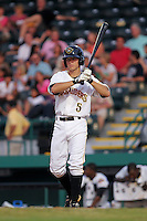 May 28, 2010: Infielder Brock Holt of the Bradenton Marauders, Florida State League Class-A affiliate of the Pittsburgh Pirates, during a game at McKenhnie Field in Bradenton Fl. Photo by: Mark LoMoglio/Four Seam Images