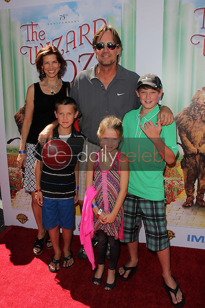 """Kevin Sorbo and family<br /> at """"The Wizard Of Oz 3D"""" World Premiere Screening and Grand Opening of the TCL Chinese IMAX Theater, Chinese Theater, Hollywood, CA 09-15-13<br /> David Edwards/DailyCeleb.com 818-249-4998"""
