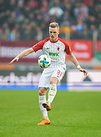 Philipp MAX, FCA 31 <br /> AUGSBURG -  SV WERDER BREMEN  1-3<br /> Football 1. Bundesliga , Augsburg,17.03.2018, 27. match day,  2017/2018, 1.Liga, 1.Bundesliga, <br />  *** Local Caption *** © pixathlon<br /> Contact: +49-40-22 63 02 60 , info@pixathlon.de