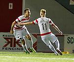Tony Andreu celebrates scoring for Halilton