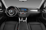 Straight dashboard view of a 2011 BMW x3 xDrive35i SUV