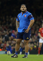 Vincent Pelo of France during the Wales v France, 2016 RBS 6 Nations Championship, at the Principality Stadium, Cardiff, Wales, UK