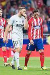 Atletico de Madrid's Jan Oblak and Fernando Torres during La Liga match between Atletico de Madrid and Malaga CF at Wanda Metropolitano in Madrid, Spain September 16, 2017. (ALTERPHOTOS/Borja B.Hojas)